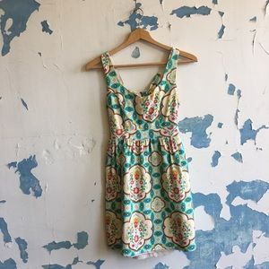 Judith March | Teal Floral Tie Back Sundress